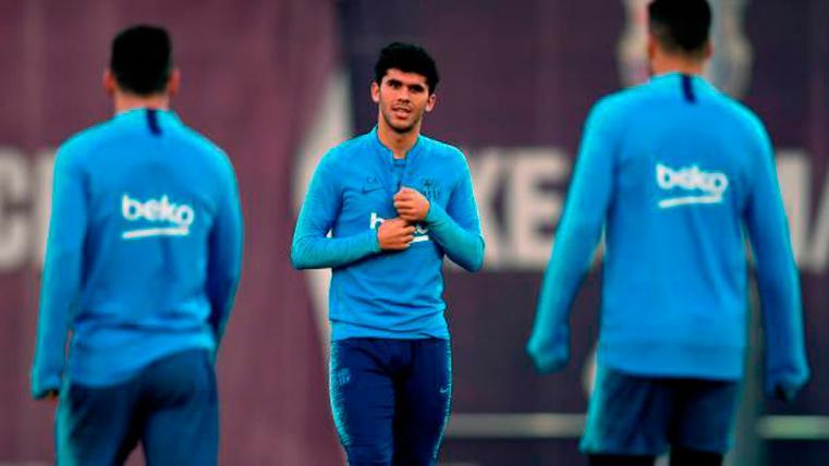 Aleñá debuta con España Sub-21 y habla de De Jong, Messi, Rakitic y el posible triplete