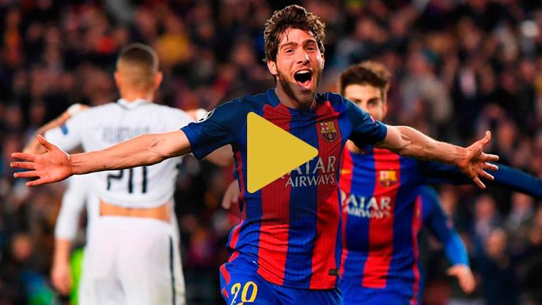 El Barça elige el mejor gol de su historia y el de Sergi Roberto al PSG es uno de los finalistas