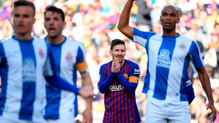 El 'autobús' del Espanyol surtió efecto en el primer tiempo contra el FC Barcelona