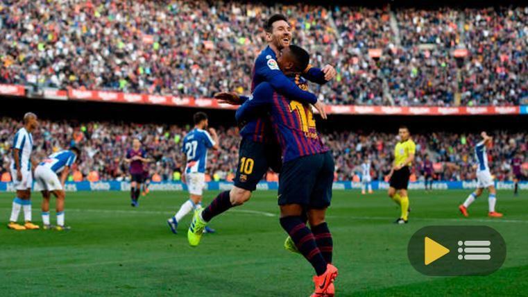 Vídeo resumen: FC Barcelona 2 RCD Espanyol 0 (LaLiga J29)