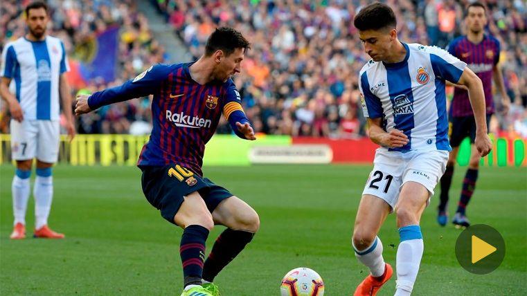 VIRAL: Las redes sociales estallan con la 'rotura' de Leo Messi a Marc Roca en el derbi