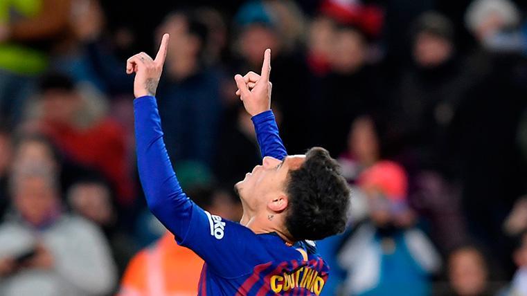 Coutinho, a pase de Malcom, vuelve a marcar en Liga cinco meses después