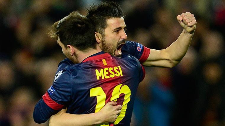 """David Villa, sin dudas: """"Leo Messi es el mejor jugador de la historia"""""""