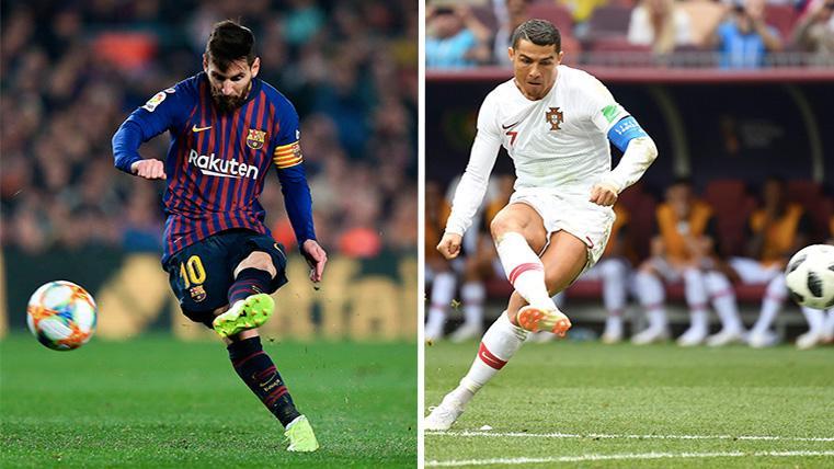 Messi ha marcado el triple de faltas que Cristiano en los últimos cuatro años