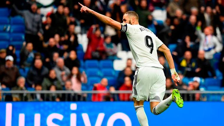 Benzema rescata al Real Madrid contra el Eibar en un Bernabéu muy tenso (2-1)