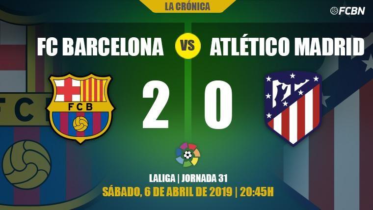 Luis Suárez derriba la muralla de Jan Oblak y el Barça y Messi sentencian LaLiga (2-0)