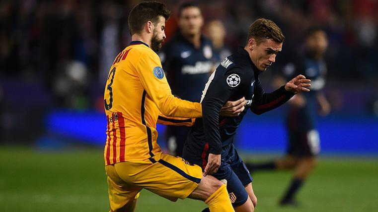 La respuesta y la sonrisa de Griezmann a Piqué cuando le habló al oído en el Barça-Atlético