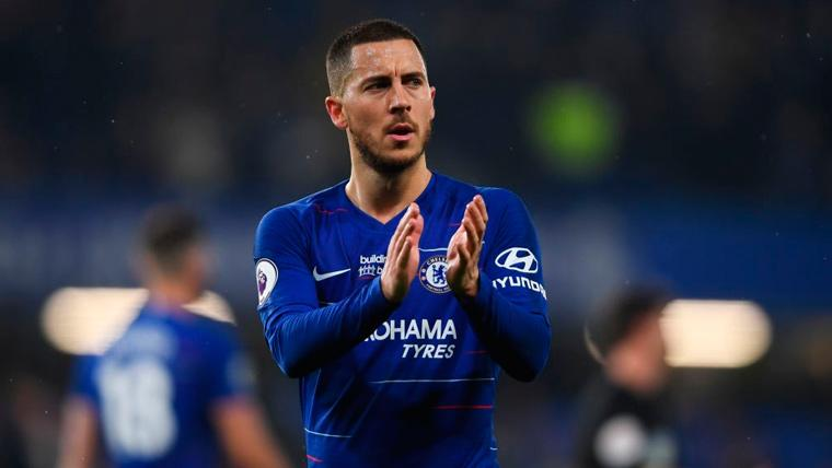 Eden Hazard celebra una victoria del Chelsea