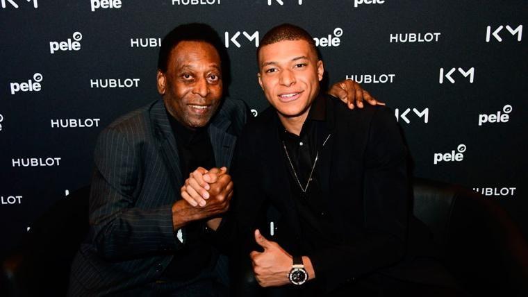 Mbappé alucina con Pelé y lanza un 'guiño' a Zinedine Zidane
