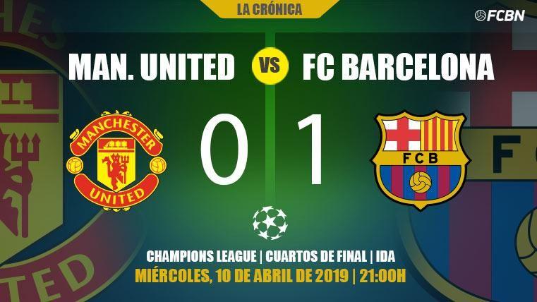 El Barcelona gana al United con lo justo y da un gran paso hacia semifinales de Champions (0-1)