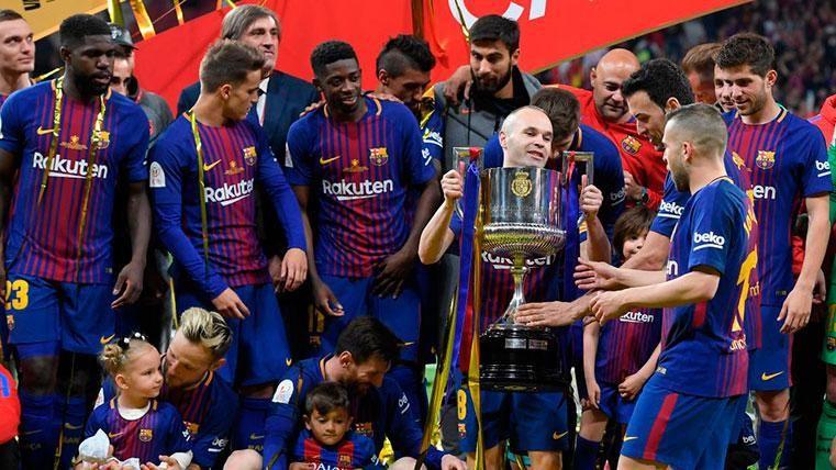 El Barça celebró el 'doblete' la pasada campaña