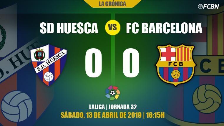 El experimento de Valverde no funcionó y el Barça se fue de El Alcoraz sin goles (0-0)