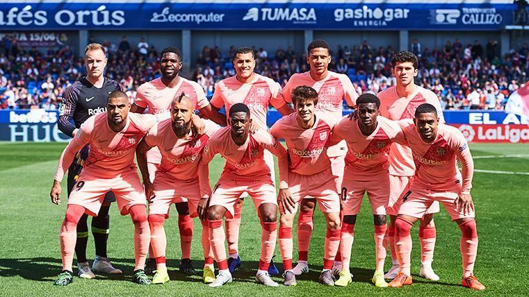 Alineación titular del FC Barcelona contra el Huesca en El Alcoraz