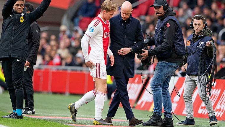 De Jong se marchó lesionado en la primera mitad