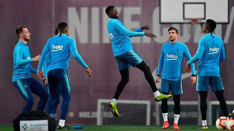 El FC Barcelona entrena a las órdenes de Valverde