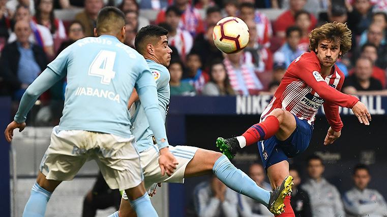 Solo Leo Messi supera a Griezmann en goles de falta esta temporada