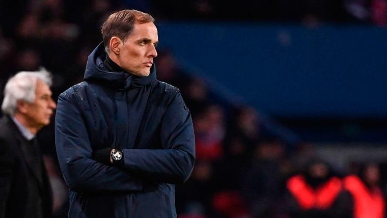 Thomas Tuchel en un partido del Paris Saint-Germain