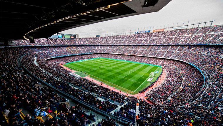 El Camp Nou en un partido del FC Barcelona