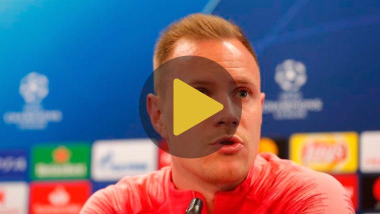 Ter Stegen responde sobre el PSG y la Roma para hablar de las opciones del Barça en Champions