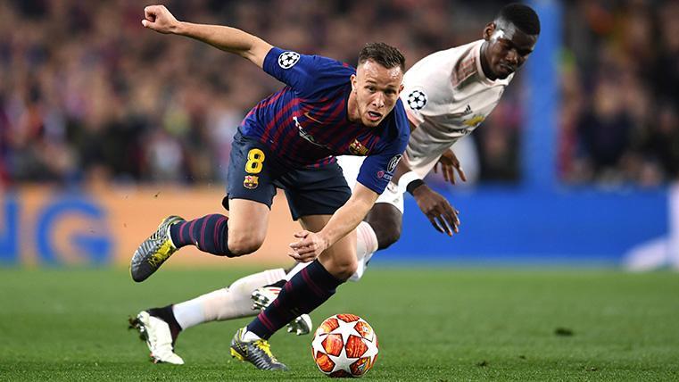 Arthur retrató a Pogba y mandó en el centro del campo del Barça