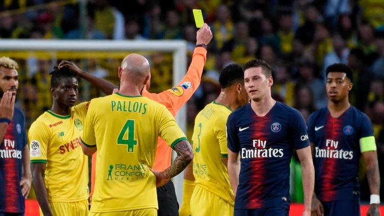El PSG, con una alineación de circunstancias, se estrella en Nantes y no cierra la Ligue 1