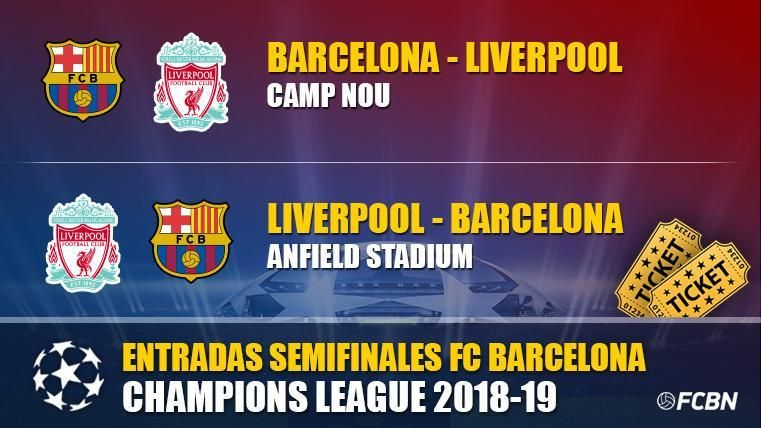 Entradas FC Barcelona vs Liverpool - Champions League 2018-2019