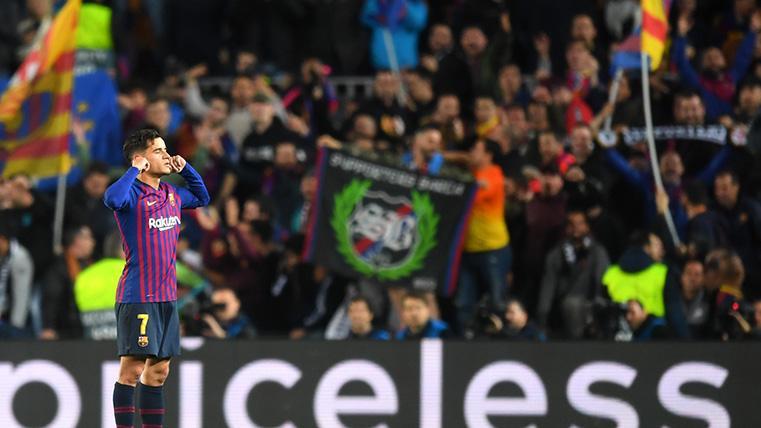 Así entendió la afición del Barcelona el controvertido gesto de Philippe Coutinho