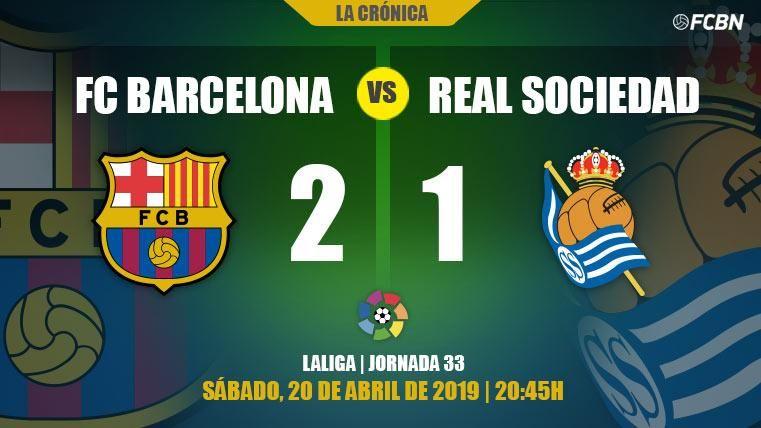 Un Barcelona a medio gas derrota a la Real y sigue con paso firme hacia LaLiga (2-1)