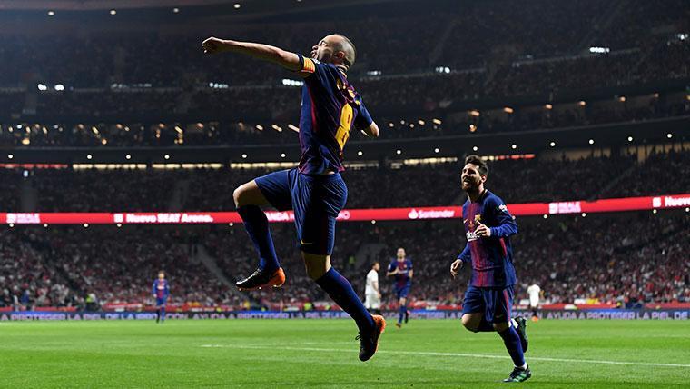 Iniesta celebra el primer aniversario de su última final con el Barça