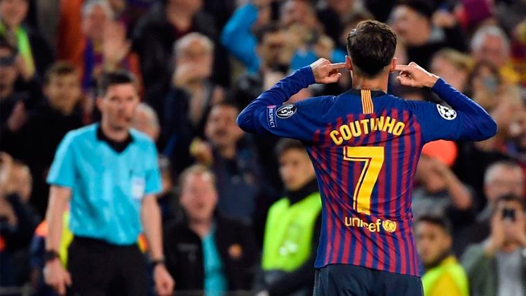 Philippe Coutinho explica qué quería decir con su gesto al Camp Nou