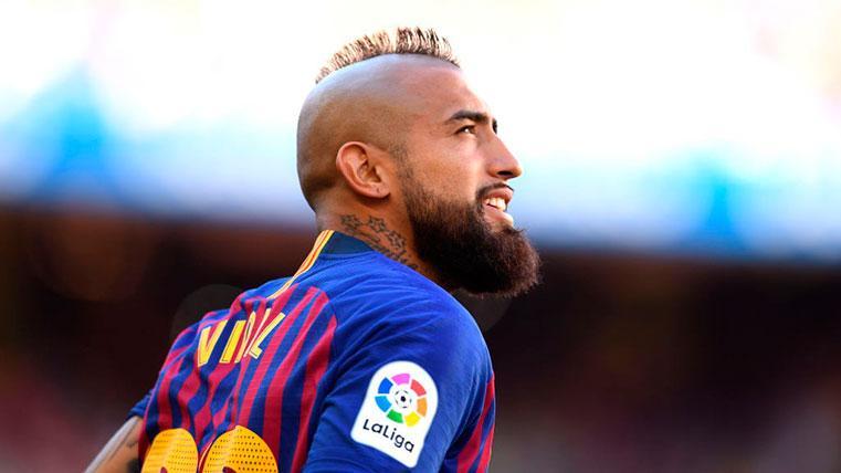 Así reaccionó Arturo Vidal a la ovación del Camp Nou ante la Real Sociedad