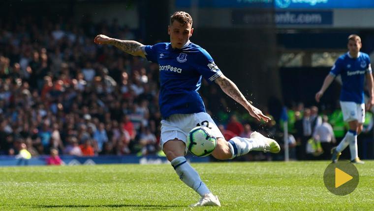 Digne marcó un golazo en el 'repaso' del Everton al Manchester United