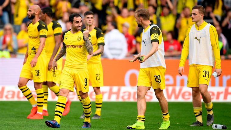 Alcácer reaparece y cierra la goleada de un Dortmund que no se rinde en la Bundesliga