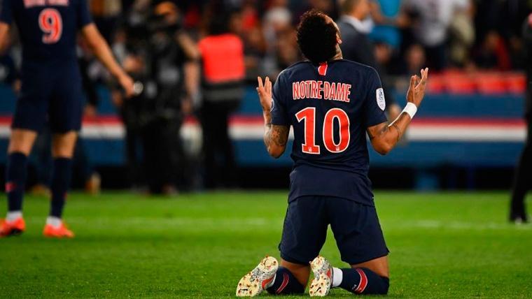 Sentido mensaje de Neymar tras volver a jugar después de tres meses de lesión