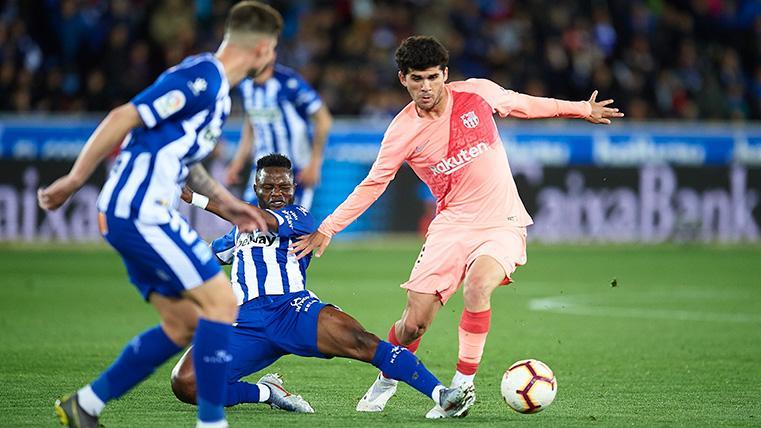 JUGADÓN: ¡Luis Suárez la dejó pasar y Aleñá adelantó al Barça en Mendizorroza!