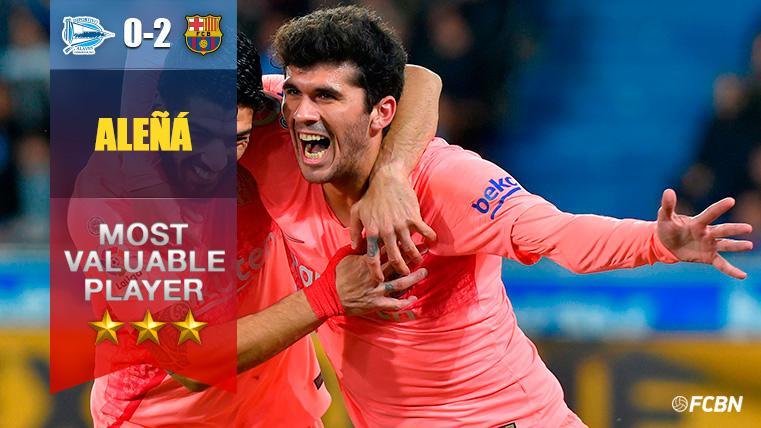 Aleñá brilló por encima del resto en Mendizorroza: Gol y partidazo del canterano del Barça