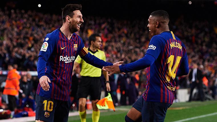 """El mejor recuerdo de Malcom: """"No olvidaré cuando Messi aplaudió mi gol en Champions"""""""