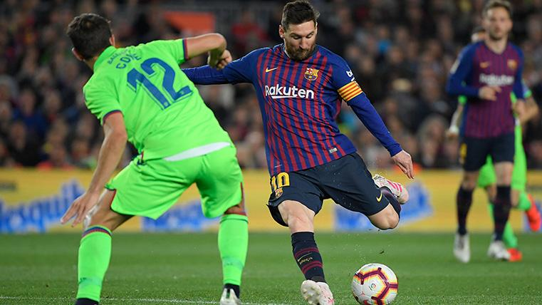 ¡Tenía que ser él! Aparición salvadora de Messi para adelantar al Barça