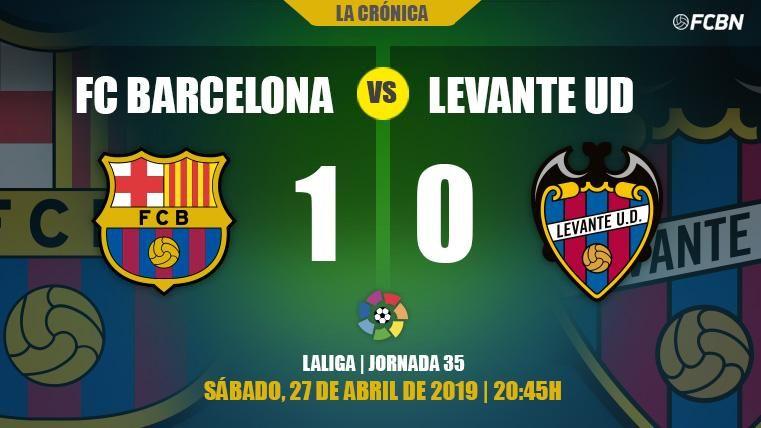 Messi decide la 26ª Liga y el Barcelona ya piensa en otro triplete (1-0)