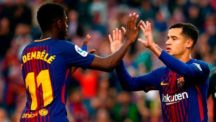 Valverde ya tendría clara su jugada con Coutinho y Dembélé en Champions