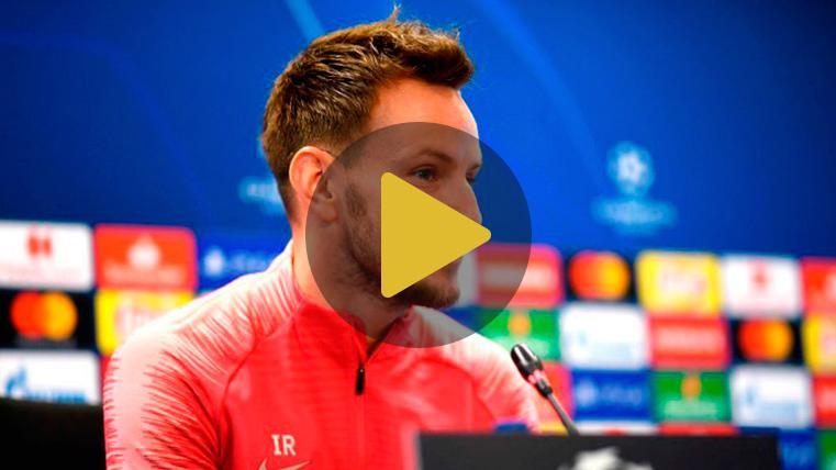Rakitic señala los objetivos del Barça en su duelo contra el Liverpool