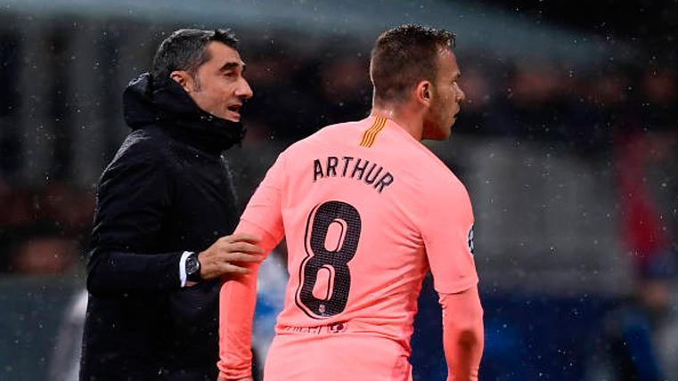 Ernesto Valverde desvela los problemas físicos de Arthur Melo