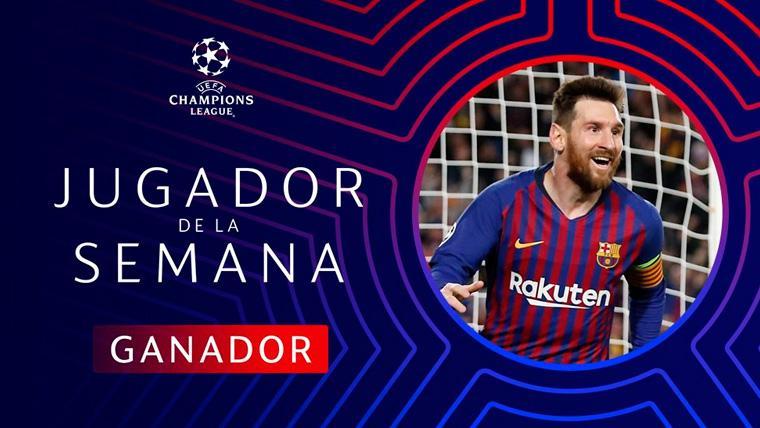 Leo Messi, elegido Mejor Jugador de la Semana en la Champions