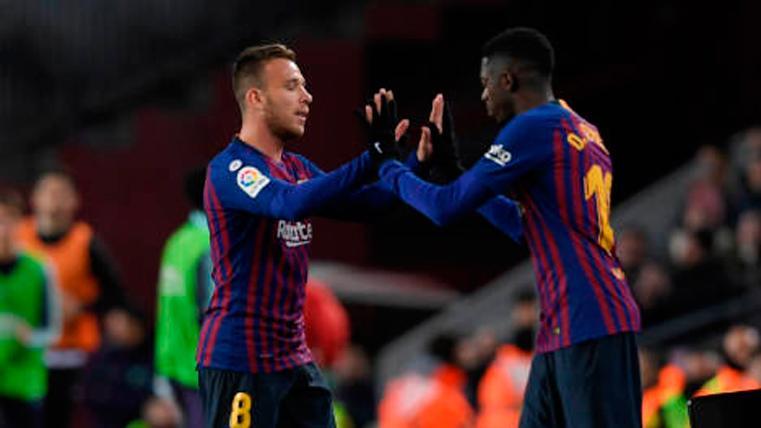 Arthur y Dembélé, los únicos titulares con opciones de repetir contra el Liverpool