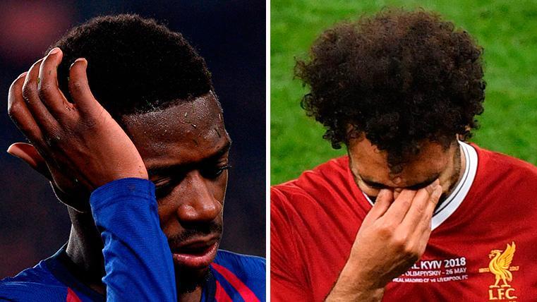 Dembélé y Salah, posibles bajas de peso para el Liverpool-Barça