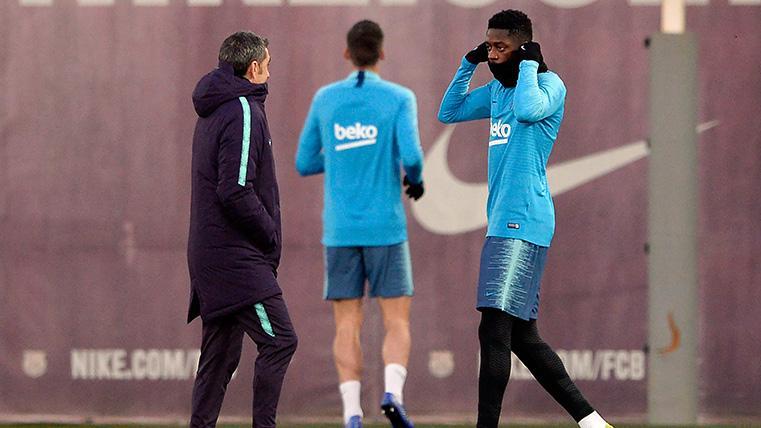 El plan de Valverde era que Dembélé fuese titular en Anfield