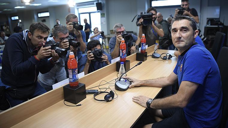 Ernesto Valverde se siente respaldado en el FC Barcelona