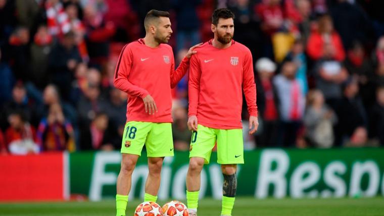 Jordi Alba da la receta para que el Barça se recupere del disgusto de la Champions