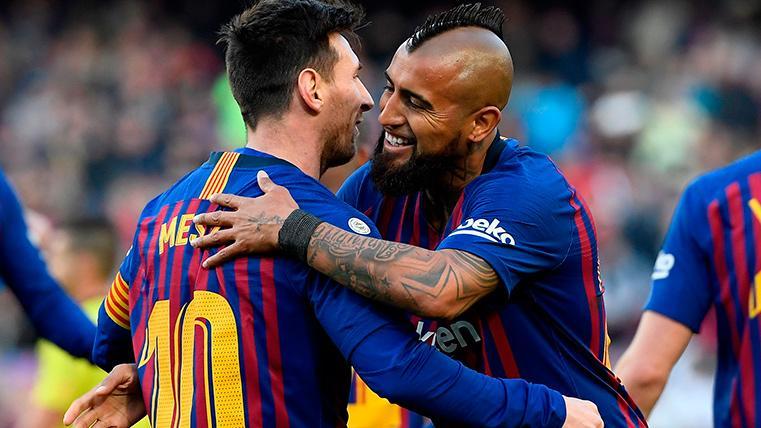 Arturo Vidal estrenó el marcador contra el Getafe y fue aplaudido