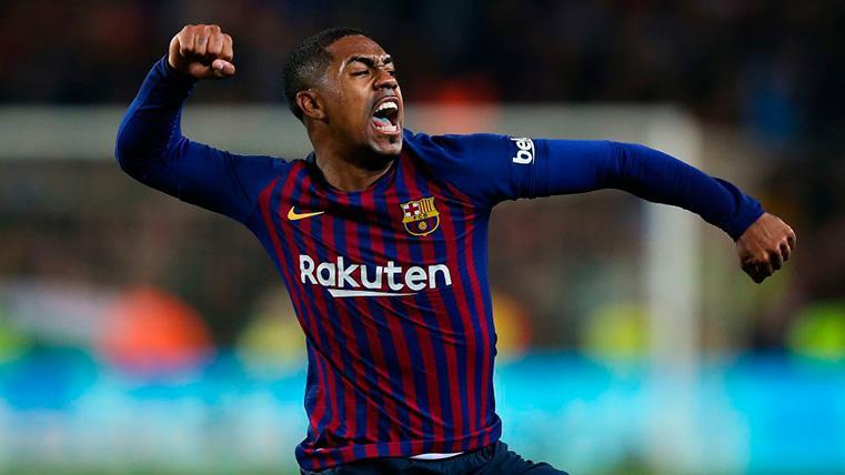 Malcom, celebrando un gol